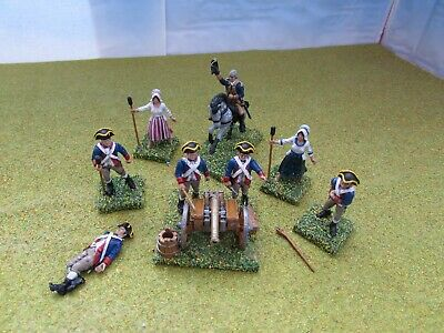 1 X 28mm AWI Continental Artillery Battery Painted * Black Powder / Warlord * • 2.99£