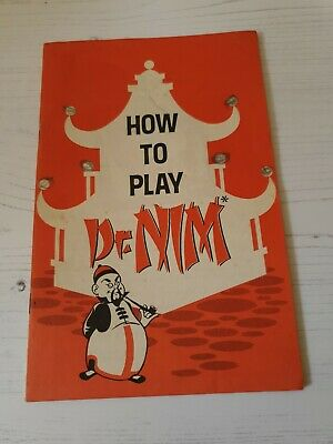 How To Play Dr Nim Instruction Book For Vintage Toy • 1.99£
