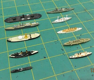 Waterline War Game Painted Ships X 10 Includes Macedonia Colombia Borodinc  • 12.99£
