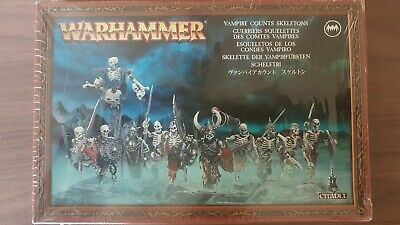 Warhammer Fantasy Vampire Counts - Skeleton Warriors Regiment (NIB) Sealed • 15£