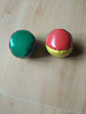 Two Beanie Balls For Juggling Catching Practise Etc • 1.99£