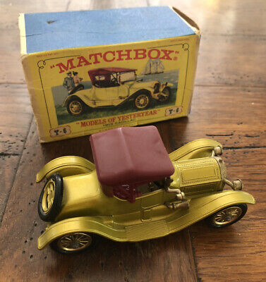 Matchbox Lesney - Models Of Yesteryear Y-6 : 1913 Cadillac - Boxed - Rare • 7.50£