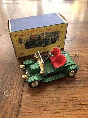 MATCHBOX Models Of Yesteryear Y-2 1911 RENAULT, Boxed In Good Condition • 8£