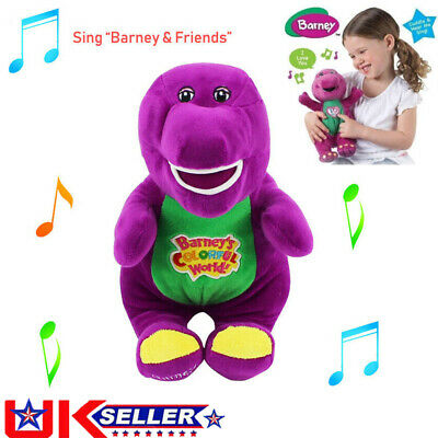 Barney The Dinosaur Sing I LOVE YOU Song Purple Soft Plush Doll Toy 12'' Gift • 8.49£