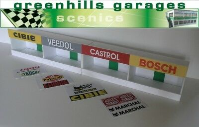 Greenhills Scalextric Slot Car Building Reims Pit Boxes Kit 1:43 Scale - Bran... • 21.95£