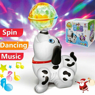 Kids Toy Electric Dancing Dog Rotating Puppy Walking Dog With Light & Sound • 7.99£