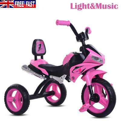 New Children Toddlers Kids Trike 3-Wheel Tricycle Safe Buggy Pink • 32.90£