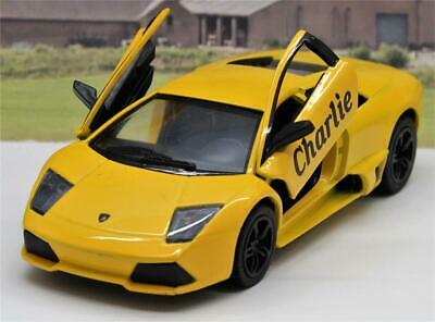 PERSONALISED NAME Gift Lamborghini Diecast Boys Dad Toy Car Present 10 Colours • 8.95£