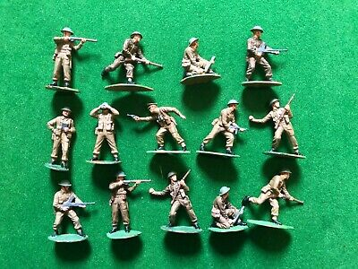14 X PAINTED BRITISH INFANTRY WW2 1940  1/32nd FIGURES • 10£