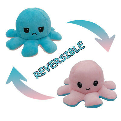 Cute Octopus Doll Double-Sided Flip Octopus Plush Toy Doll Marine Life Kids Gift • 6.89£