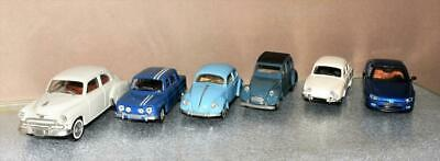 JOB LOT Of 6 X SOLIDO 1:43 SCALE DIE-CAST MODELS VW CITROEN RENAULT CHEVROLET • 4.95£