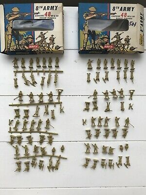 Vintage Airfix HOOO 8th Army Two Rare 1st Series Boxed Complete • 3.20£
