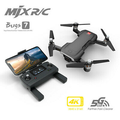 MJX Bugs 7 B7 RC Drone With Camera 4K  5G Wifi Brushless Motor GPS Optical A9C1 • 126.51£