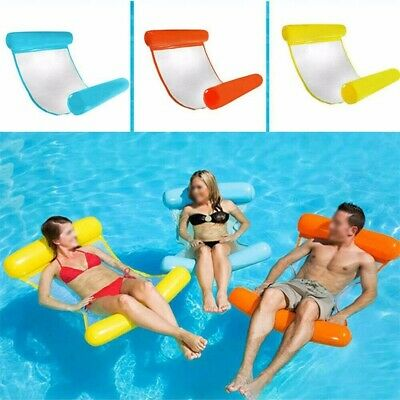 Inflatable Floating Water Hammock Float Pool Lounge Bed Outdoor Swimming Chair • 5.99£