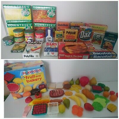 Rare Vintage Realistic Play Toy Food Huge Bundle Over 50 Items 1990s  • 24.99£