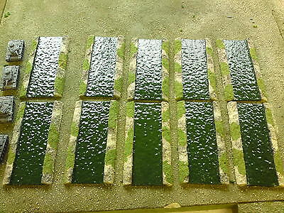 15mm 5' Canal Set Suitable For WW1 / WW2 Flames Of War (10 Pieces) • 20£