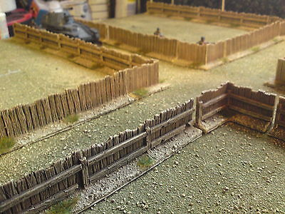 24 Pieces Of 28mm Wooden Fencing Suitable For WW2 Bolt Action,ACW,AWI, • 30£