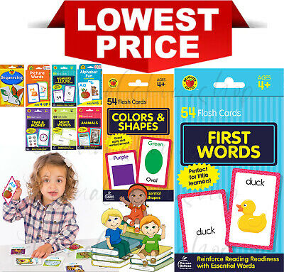 Children's Flash Cards Kids Educational Pre School Learning Brighter Child Gift • 4.75£