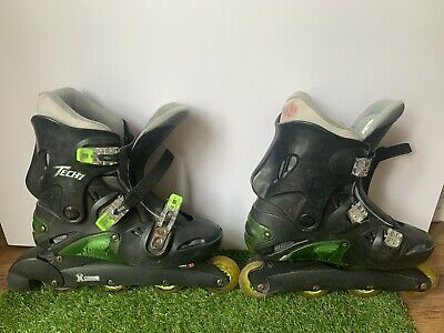 Vintage Inline XCess TECH 7 Unisex RollerBlades Adjustable Size 10 • 15£