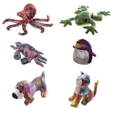 Assorted Colours Sand Animals Metallic Plush Collectable Creatures (1 Supplied) • 7.95£