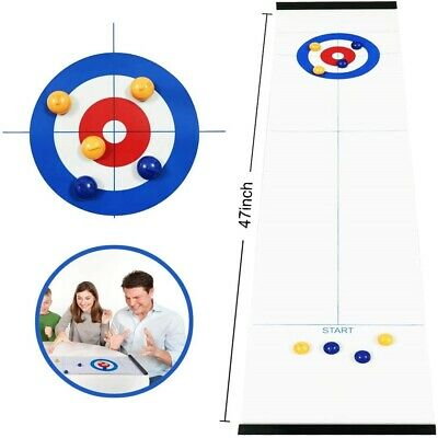 UK Family Curling Table Game Adult Training Kids Tabletop Ball Game Fun Toy Hot • 8.43£