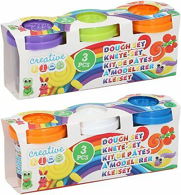 6x Children's Kids Bright Coloured Play Dough Fun Creative Hobby Set With Lids • 4.99£