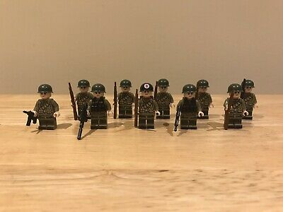 American WW2 Soldiers & Medic Unbranded Figures But Fit Lego Studs (10) • 13.65£
