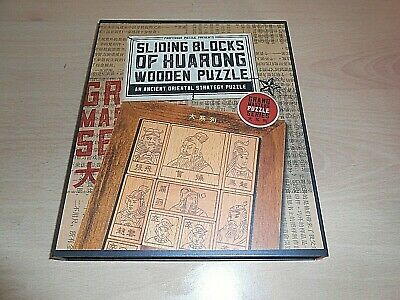 Proffessor Puzzle Presents Sliding Blocks Of Huarong Wooden Puzzle - NEW ! • 11.25£