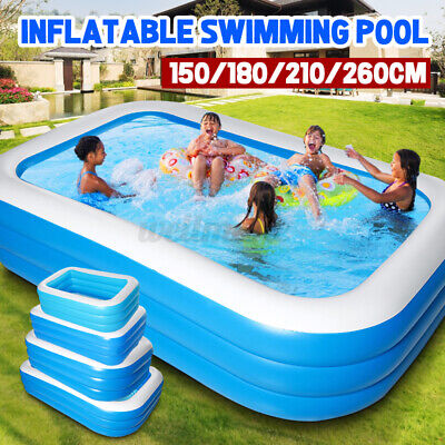 Large Inflatable Swimming Pool Home Garden Outdoor Summer Kids Fun Paddling Pool • 30.59£