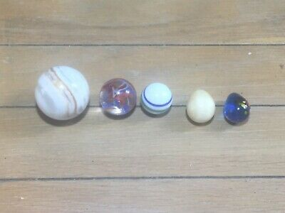 Collection Of Five Various Marbles • 7£