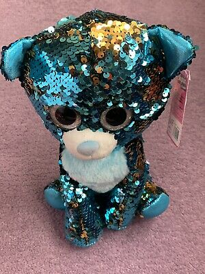 Sequin Collection Blue Teddy Reversible Sequins Flippable 30cm • 15.99£
