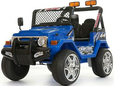 Kids 2 Seater 12v Electric / Battery Ride On Electric Jeep 4x4 Blue • 157.95£