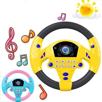 Baby Kids Interactive Toy Steering Wheel With Sound Simulation Driving Car Toys • 7.59£