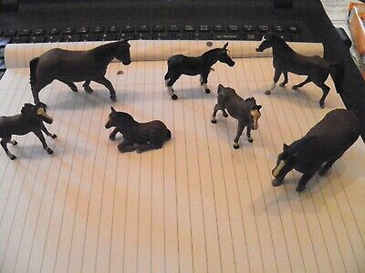 Vintage 1970S BRITAINS HORSES AND FOALS LOT OF SEVEN SUPERB • 19.99£