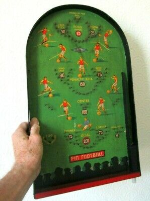 Kay Pin Football Bagatelle Game - 1950`s  60`s COLLECTABLE TOY    • 29.99£