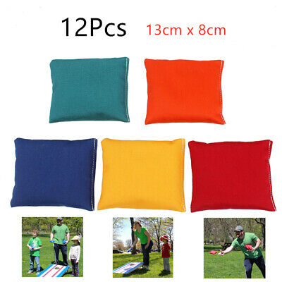 12 * Sports Waterproof Bean Bags Throwing Catching Play PE Garden Games Juggling • 8.99£