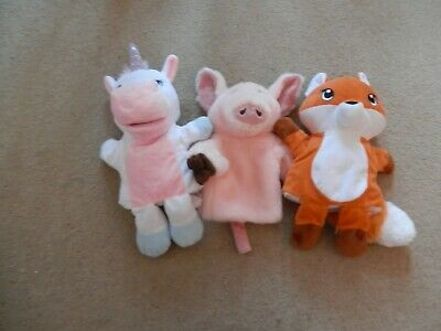 Selection Of Children's Hand / Glove Puppets X 3 • 4.90£
