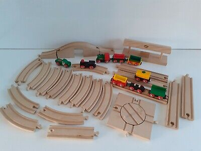 GENUINE BRIO  Wooden Train Set ,station ,Track ,Turntable, Trains & Carriages • 39.99£