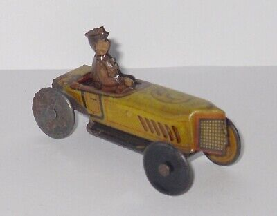 Antique/Vintage - Tinplate Penny Toy - Racing Car With Driver. • 124.99£