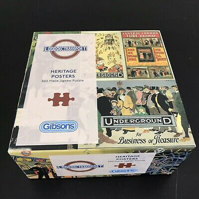 """Gibsons 500 Piece Jigsaw Puzzle """"HERITAGE POSTERS"""" (London Transport) • 10.99£"""
