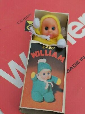 BABY WILLIAM In Matchbox Doll Soft VINTAGE 1970s Original Toy • 15£