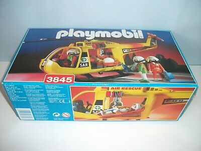 Vintage  Playmobil   Air Rescue 3 Helicopter 3845 • 30£