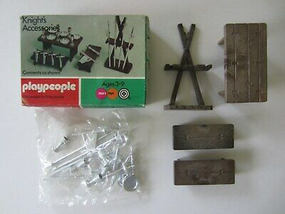 Vintage Playmobil Playpeople Knight's Accessories 1715 New In Box Knights Sealed • 30£
