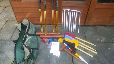 Longworth Croquet Set 4 Person Lightly Used • 60£
