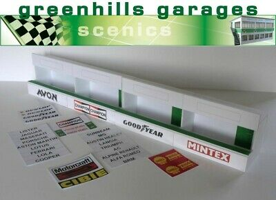 Greenhills Scalextric Slot Car Building Standard Pit Boxes Kit 1:32 Scale - B... • 16.49£