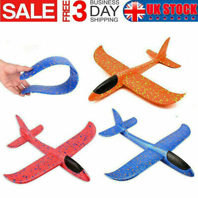 UK 48cm EPP Foam Hand Throw Airplane Outdoor Launch Glider Plane Kids Toy • 3.59£