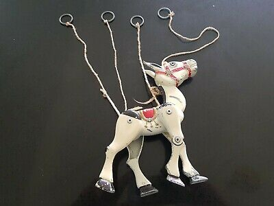 Vintage MOKO Muffin The Mule Die Cast String Operated Puppet • 1.20£