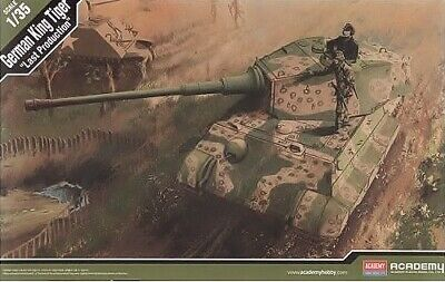 Academy 1:35 King Tiger Last Production German Heavy Tank Model Kit • 45£