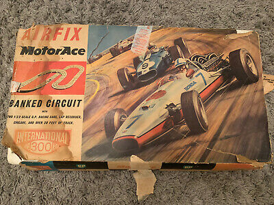 Vintage Airfix MotorAce 1/32 Scale Complete Track In Original Box With Booklets • 22£