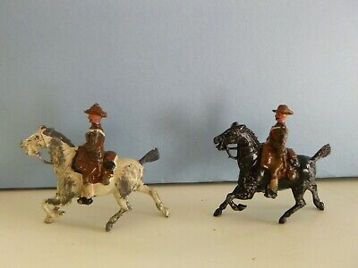 Vintage Britains Lead Soldiers  Imperial Yeomanry - Set 105 - Soldier & Officer • 19.90£
